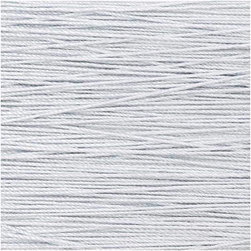 Rico Design 5g Spitzengarn - Farbe: 008 - Silber - Häkelgarn für Taschentücher