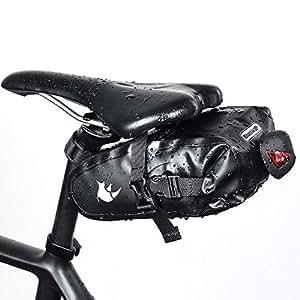 Docooler Rhinowalk Large Size Waterproof Bicycle Saddle Bag Cycling Strap-on Seat Bag Repair Tools Bag for MTB Road Bicycle