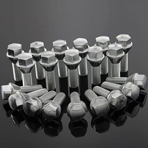 Wheel Bolts 20x Wheel Bolts BMW 1 Series E87 1 Series Coupe Convertible 1 Series Coupe M 2500 2800, 3.0i, 3.3i 2800CS, 3.0CS, 3.0CSi 3.0CSL, 3–3 Convertible 3 Series Compact 3 Series Coupe 3 Series Touring 3 Series 5 Series Touring 5 xDrive xDrive 6 Cabrio Coupe 6 of 6 Including M625 CSi 6 7 8 with M635 CSi M1 M3 M5 M6 M6 Coupe Convertible X1 Z1 Z3 Coupé / Z3 M-M - Roadster Coupe Z3 Z4 Roadster Z3 Z4 M / M Roadster Coupe Z4 Z8 Seat M12 x 1.5 Shank Length: 28 MM