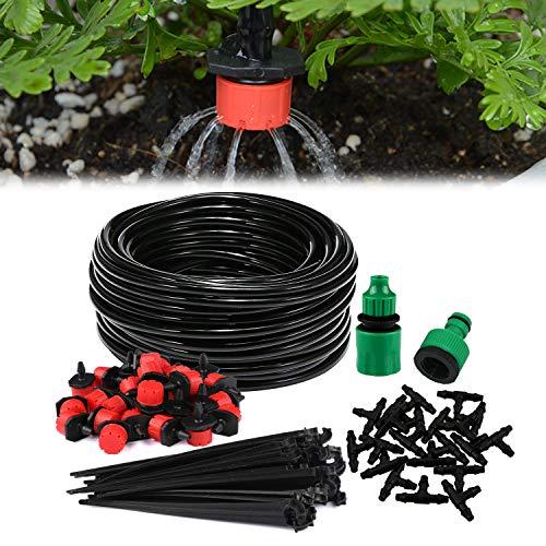 Sistema di irrigazione da giardino, Aiglam Micro Drip Irrigation Kit Irrigazione automatica Sprinkler automatico Irrigazione a goccia Kit Irrigazione giardino per paesaggio, aiuola, Piante da terrazza