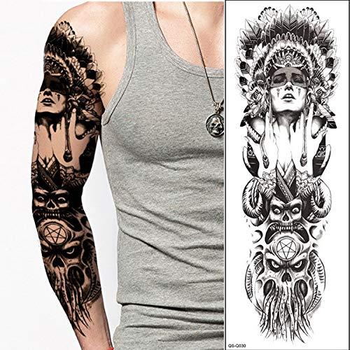 4 Pces, Tätowierung Voller Arm Ärmel Sexy Tattoo Für Frauen Männer Tattoo Geisha Wasserdicht Transfer Tattoo Und Body Art Aufkleber Groß, Q30 (Drachen Geisha Kostüm)
