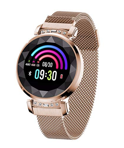 LRWEY Fitness Smart Uhr, DB13 Frauen Blutdruck Pulsmesser Sport Smart Armband Uhr, FüR iOS Android