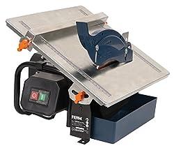 FERM Fliesenschneider 600W - 2950/min - 180mm Diamantscheibe - Wassergekühltes Sägeblatt - 0-45 Grad einstellbar