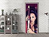 GRAZDesign Türposter selbstklebend Geisha - Fototapete Badezimmer Japan - Türtattoo für Bars - Türfolie Restaurants / 92x213cm / 791518_92x213