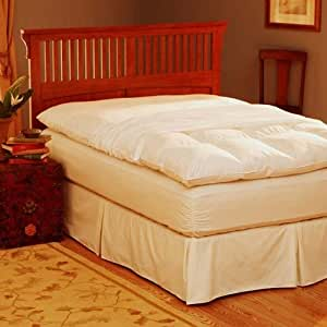 Pacific Coast® Feather Bed Cover w zip closure Queen(feather bed not included) 157