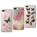 iPhone 8 Plus Hülle Glitzer, 3er Packs iPhone 7 Plus Case Cover, Asnlove Schutzhülle Handy-Tasche im Glitter Sparkle Glänzende Design für Apple iPhone 8 Plus Hülle Silikon Shiny Glitter Case Etui Handyhülle Schale