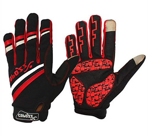 COPOZZ Outdoor Gloves for Men & Women (Red, L)