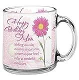 Best Mom Coffee Cups - meSleep Glass Happy Birthday Mom Mug , 330 Review
