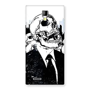 Delighted Skull Laugh Back Case Cover for Micromax Canvas Xpress A99