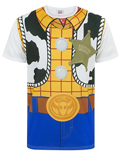 Disney Toy Story Woody Kostum Herren T-Shirt S - XXXL (Toy Story Woody Herren Shirt)