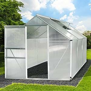 brast gew chshaus aluminium mit stahlfundament 5 85m alu gartenhaus treibhaus garten 190x190cm. Black Bedroom Furniture Sets. Home Design Ideas