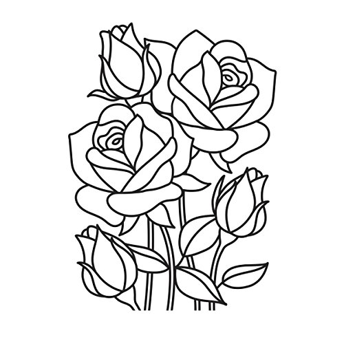 "Darice ""Mosaic Rose"" Embossing Folder, Clear/White, 4.25 x 5.75-Inch"