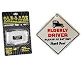 ELDERLY DRIVER PLEASE BE PATIENT CAR WINDOW SIGN AND...