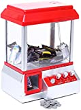 Grapple Machine con Fairground Music - Rojo Blanco - Candy Machine para dulces y Toy Grinscard