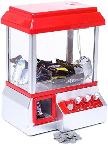 Macchinetta con artiglio e musica da lunapark - Rosso e Bianco 34 x 26 x 19 - Distributore dolci e giochi - Grinscard