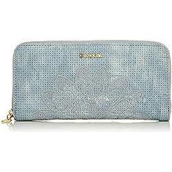 Desigual Wallet Atila Fiona Women, Portefeuilles femme, Bleu (Azul Palo), 2x10x20.2 cm (B x H T)