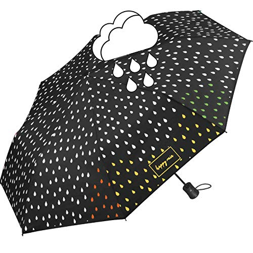 Happy rain Paraguas color negro cambia color cuando