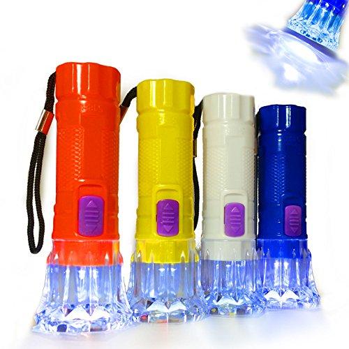 German Trendseller® - 12 x Kinder LED Taschenlampen ┃ 10 cm ┃ Sehr gute Leucht-Kraft ┃ 12 x Minitaschenlampe ┃ Nachtwanderung ┃ (Taschenlampe Halloween)