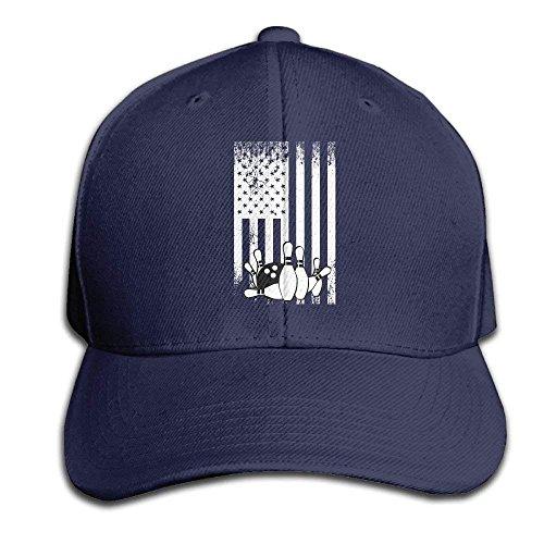 FGHJKL Retro Bowling Flag Snapback Sandwich Cap Black Baseball Cap Hats Adjustable Peaked Trucker Cap Vintage-sandwich-cap