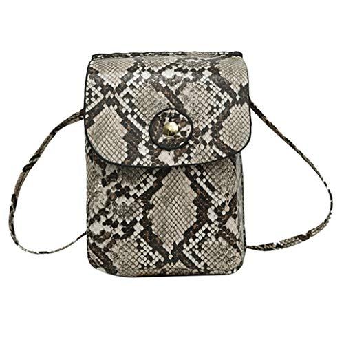 Vovotrade Damen-und Mädchen-Outdoor-Schnalle Schlangenmuster Umhängetasche Brusttasche Tasche Handytasche, klassischen wilden Stil