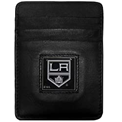 NHL Los Angeles Kings Genuine Leather Money Clip/Cardholder Wallet