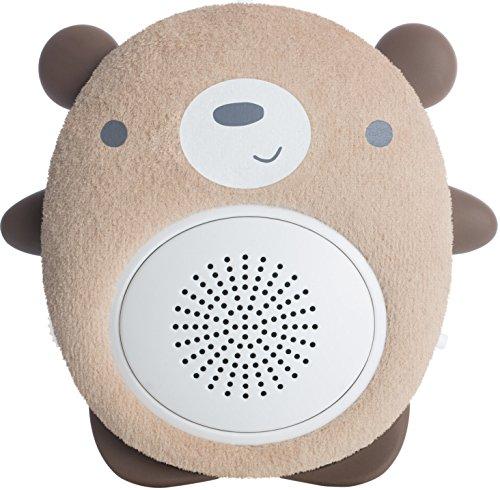 Einschlafhilfe Baby Und Kleinkind - White Noise Bluetooth Lautsprecher Als Schlafhilfe - Tragbarer Lautsprecher, Wiederaufladbar, Optimal Für Zuhause Und Unterwegs | WavHello SoundBub - Benji der Bär, (Bars Sound Bluetooth)