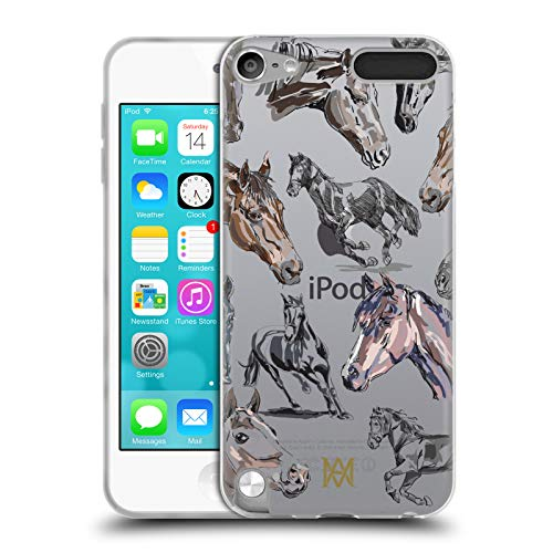 Head Case Designs Offizielle Marie-Antoinette Pferd Der Garten Soft Gel Huelle kompatibel mit Apple iPod Touch 5G 5th Gen (Marie Antoinettes Garten)