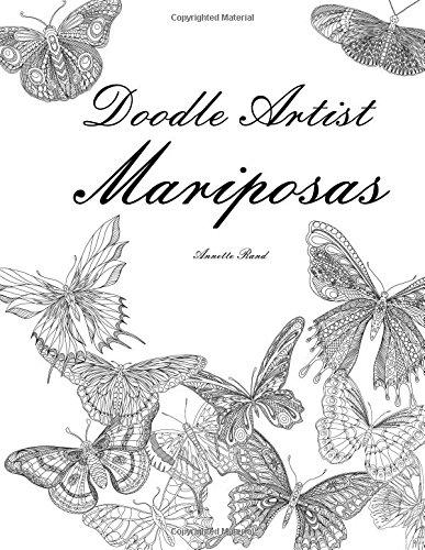 Doodle Artist - Mariposas: Un libro para colorear adultos