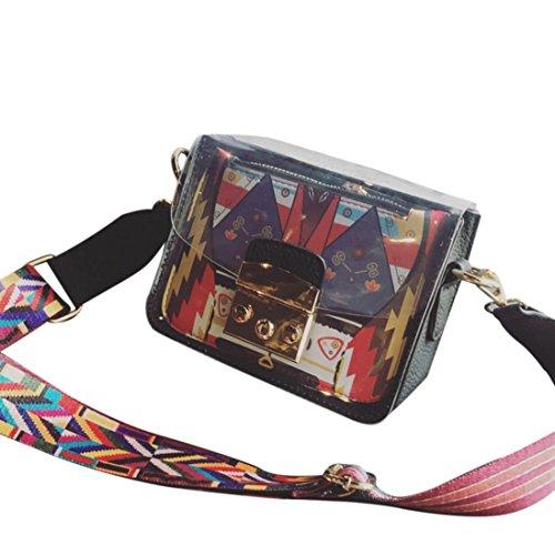squarex Fashion Frauen Transparent Paket Crossbody Bag Handtasche Handy Bag Medaille (Verkauf Coach-taschen Frauen Für)