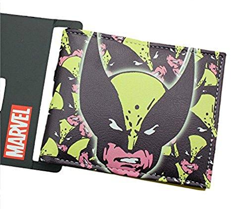 Marvel Comics X-Men Wolverine Superhero Collection Character Leather Look Bi-Fold Wallet