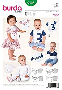 Burda Baby & Easy Patron de couture Petits-hauts Everyday - 9408