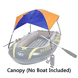 Asenart ® Foldable Canopy for Inflatable Boat(3 Person)and Camping Sun Shelter Fishing Tent Sun Shade Canopy Awning (No Boat Included)