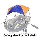 Asenart  Canopy plegable para el bote inflable (3 personas) y el campamento Sun Tenda de pesca de refugio Toldo de sombra toldo toldo (Sin Barco Incluido)