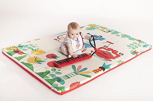 Manta de juegos para bebés acolchada plegable enrollable gimnasio suelo actividades alfombra Tamaño...