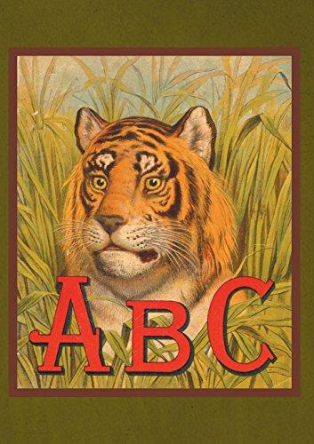 Carnet ligné Abécedaire Tête de tigre par Collectif