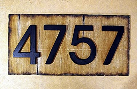 Personalised House Number Sign Plaque | Rustic House Address Signs | Made of distressed Wood | Address sign, cabin, cottage, housewarming