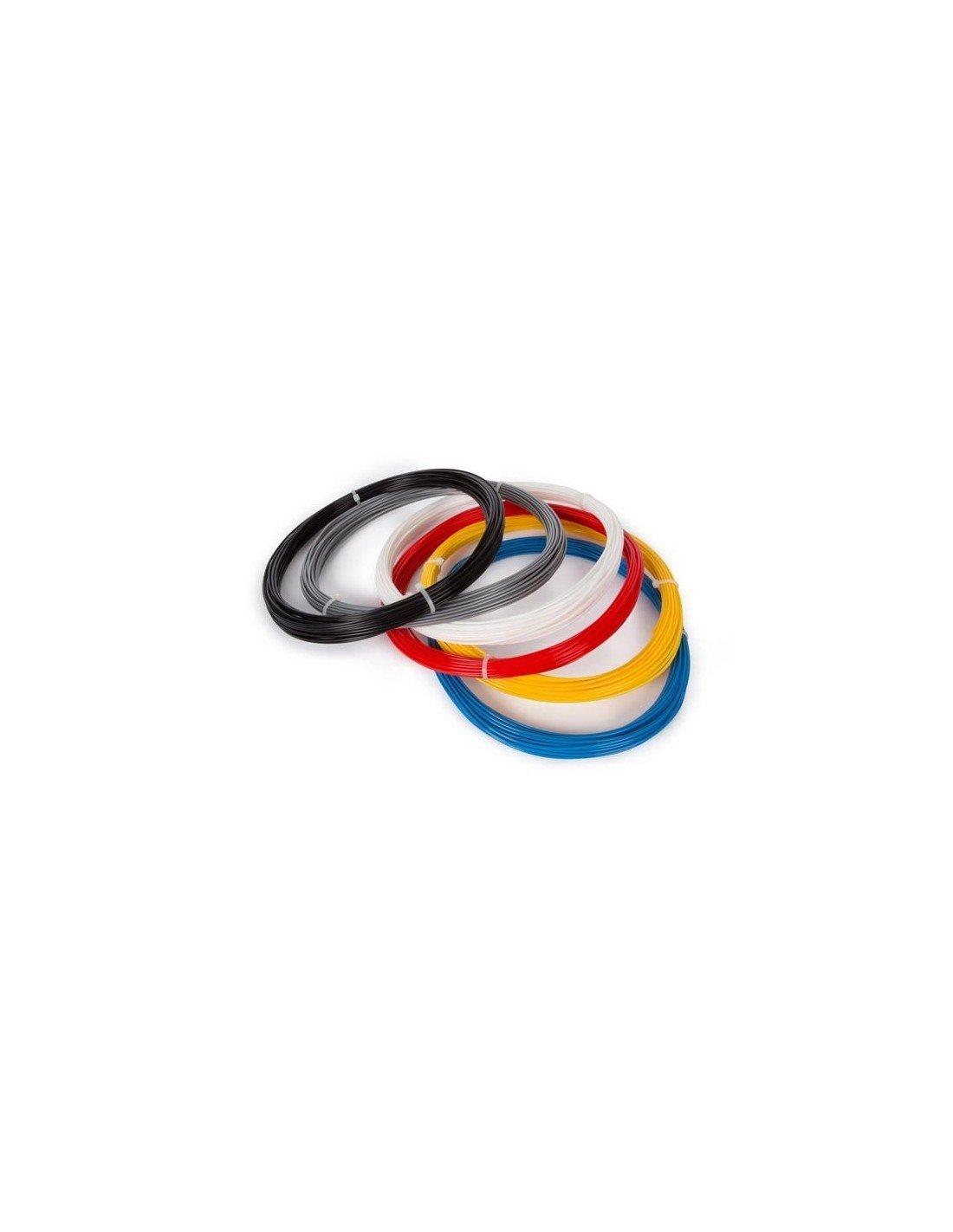 Velleman ABS 1.75mm de diamètre Filament 6Assortiment de Couleur pour imprimante 3D et Stylo 3D