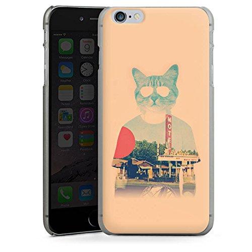 Apple iPhone X Silikon Hülle Case Schutzhülle Katze The Cat Ip Haustier Hard Case anthrazit-klar