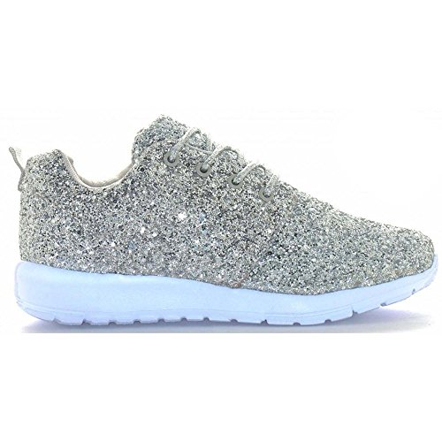 eac3f2916 -50% Womens Ladies Lace Up Glitter Sparkly Trainers Sneakers Gym Pumps  Fitness Size
