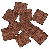 Echt Holz Furnier Quadrate dunkel - Holzscheiben - 1-10cm Streudeko Basteln Deko, Pack mit:25 Stück, Höhe x Breite:5x5cm