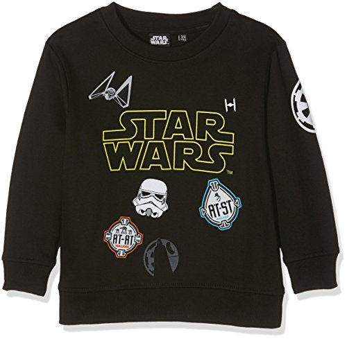 Star Wars Imperial Mutli Badge, Felpa Bambino, Black (Black), 3-4 Anni
