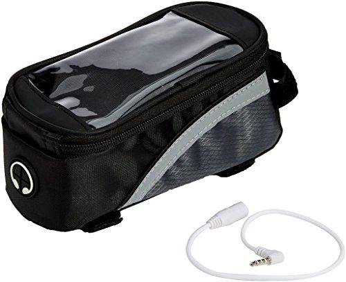 Premium schwarz Fahrrad Lenker Oberrohr Tasche Pack Beutel für iPhone 7Plus/6S Plus/Samsung Galaxy S8/S7Edge/A5J3J5/LG G6/G5/LG K4-K8/LG X CAM/Motorola Moto G4G5Plus/E 4G (Tasche Inc)