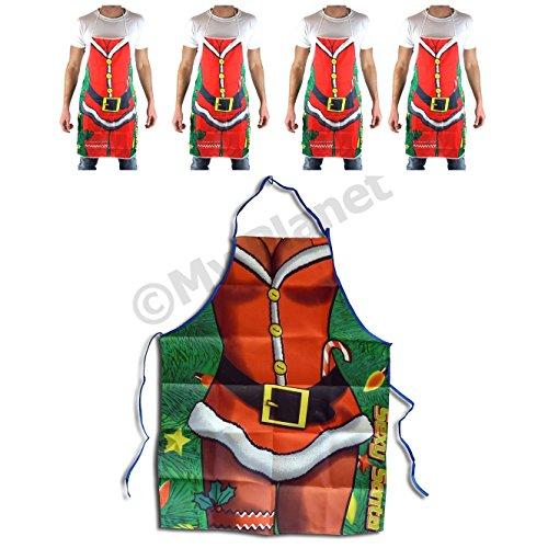 Mega Value 5x Sexy Babbo Natale di Natale cottura Grembiule unisex-Scherzo Natale cena accessori