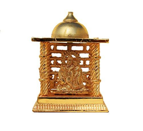 hashcart Radha Krishna mandir- Messing vergoldet Speziell für Diwali Puja und Geschenk Zweck...