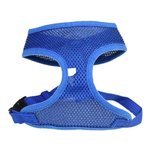 VIGE Harnais pour Chien Respirant et Ajustable, Confortable, Corde, Gilet, Sangle pour Chien, Gilet, Plomb, été, extérieur, Gilet sans Manches, t-Shirt - Bleu S
