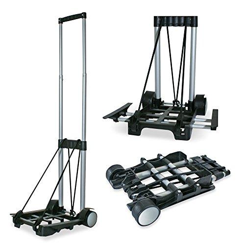 Preisvergleich Produktbild JOM Car Parts & Car Hifi GmbH JOM 10085 Transport Trolley, Sackkarre, Gepäckträger bis 30 kg mit Teleskopgriff, höhe 92cm, inklusive Spanngurt