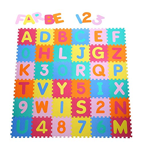 Yorbay Alfombra puzzle para Niños bebe infantil, esteras de 32x32 cm, 36...