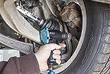 HAZET Druckluft-Schlagschrauber (extra kurz (92 mm) I max. Lösemoment 1100Nm, Vierkant 12,5 mm (1/2 Zoll), empfohlenes Drehmoment 610 Nm, Jumbo Hammer-Schlagwerk) 9012M - 6