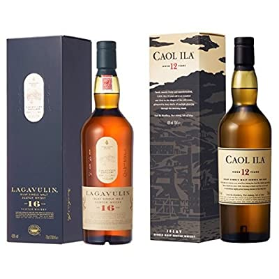Bundle: Lagavulin 16 Year Old Whisky 70cl and Caol Ila 12 Year Old Whisky 70cl