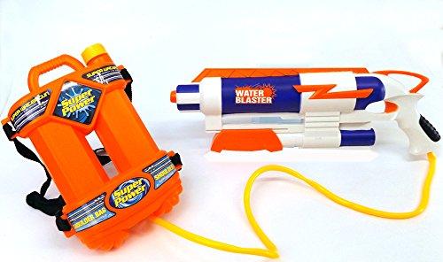 Brigamo 15556 - Water Blaster Wasserpistole mit XL Wassertank zum (Flasche Halloween Für Wasser Kostüme)